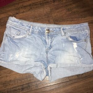 Forever 21 Light Denim Shorts